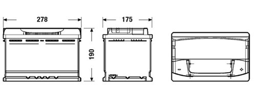 Akumulator CENTRA CA770