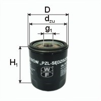 Filtr oleju PZL SĘDZISZÓW PP49